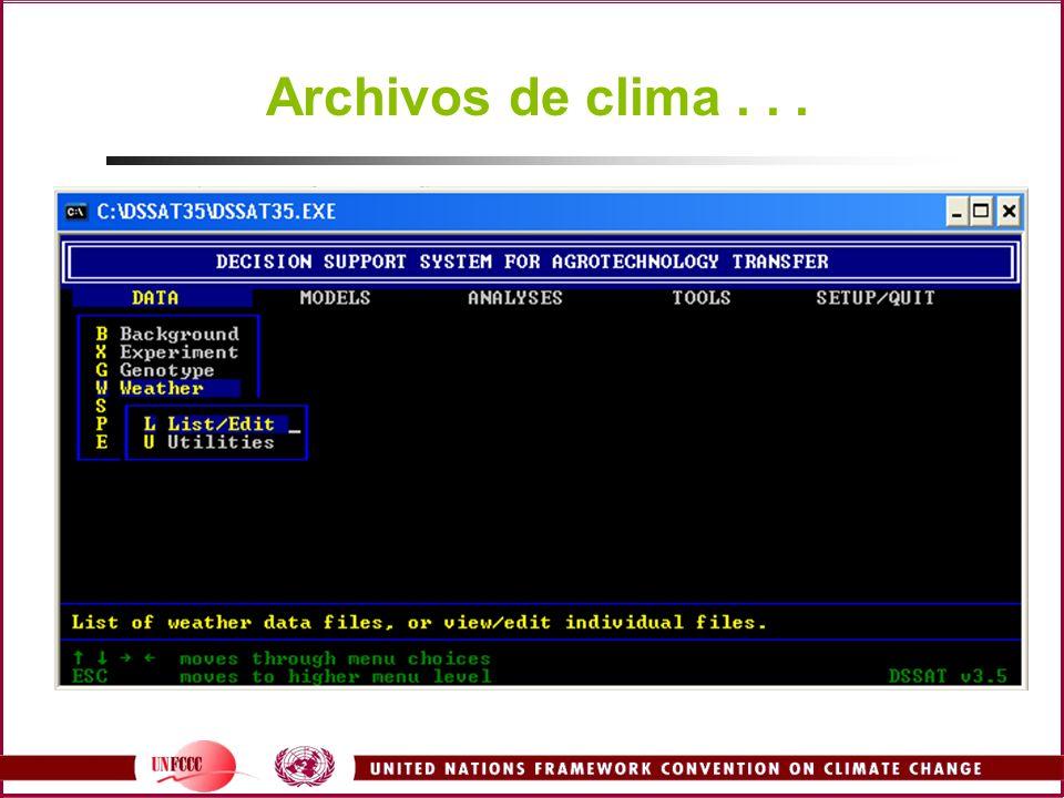 Archivos de clima...