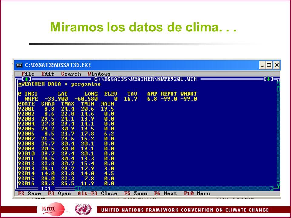 Miramos los datos de clima...