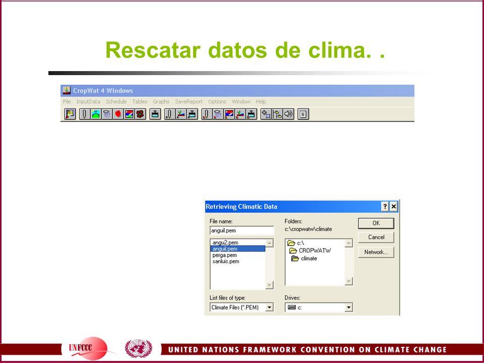 Rescatar datos de clima..