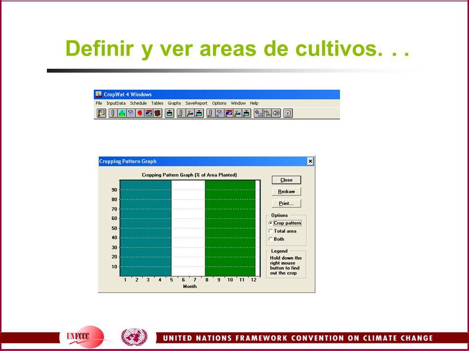 Definir y ver areas de cultivos...