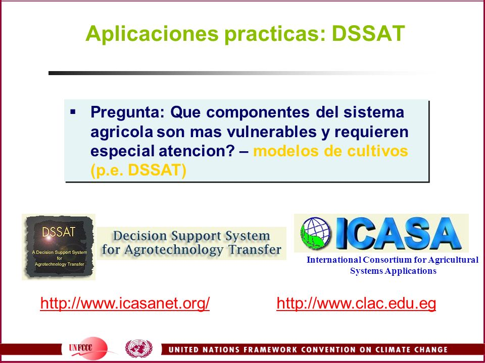http://www.icasanet.org/http://www.clac.edu.eg International Consortium for Agricultural Systems Applications Pregunta: Que componentes del sistema ag