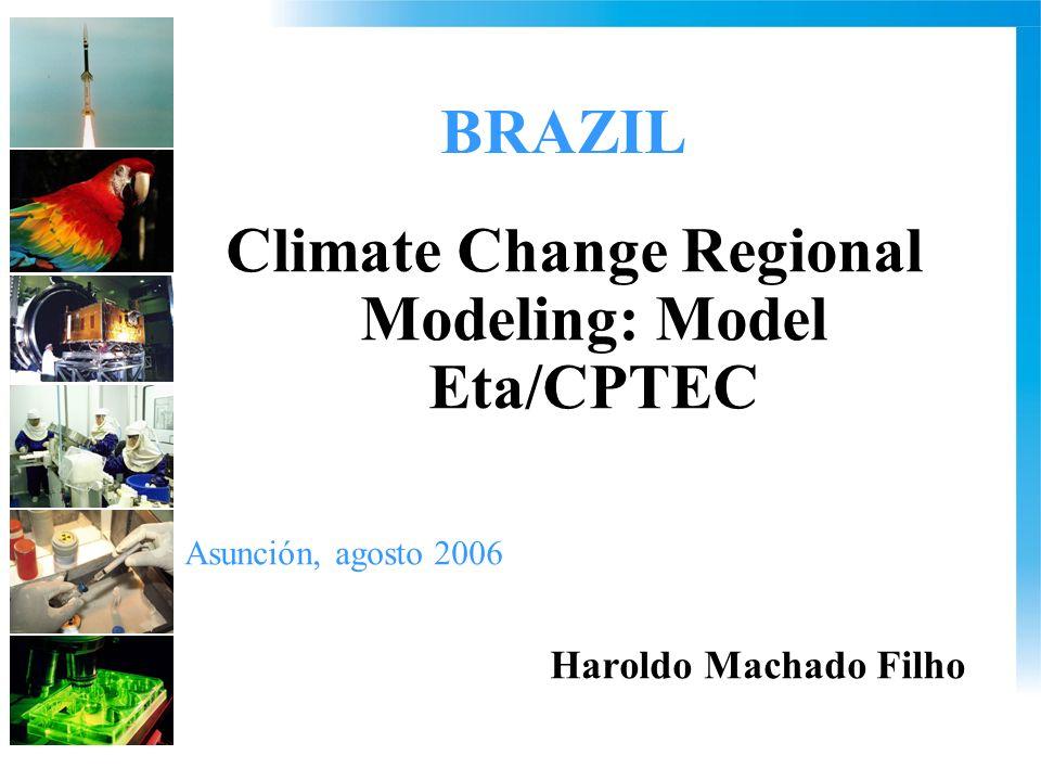 BRAZIL Climate Change Regional Modeling: Model Eta/CPTEC Asunción, agosto 2006 Haroldo Machado Filho