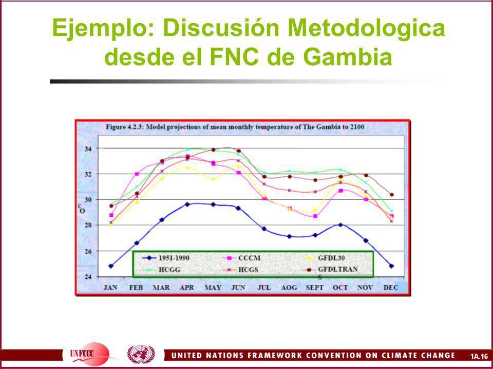 1A.16 Ejemplo: Discusión Metodologica desde el FNC de Gambia