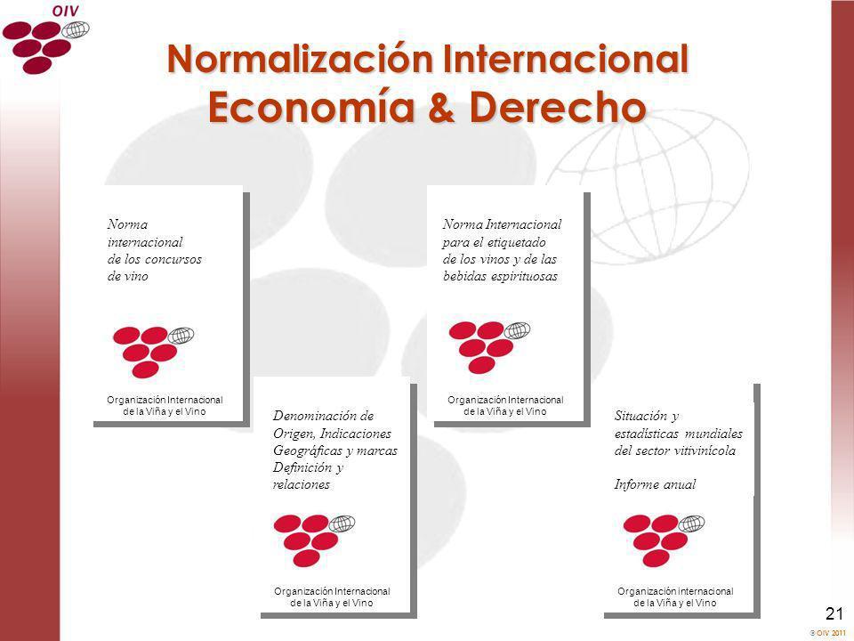 OIV 2011 21 Norma Internacional para el etiquetado de los vinos y de las bebidas espirituosas Organización Internacional de la Viña y el Vino Denomina