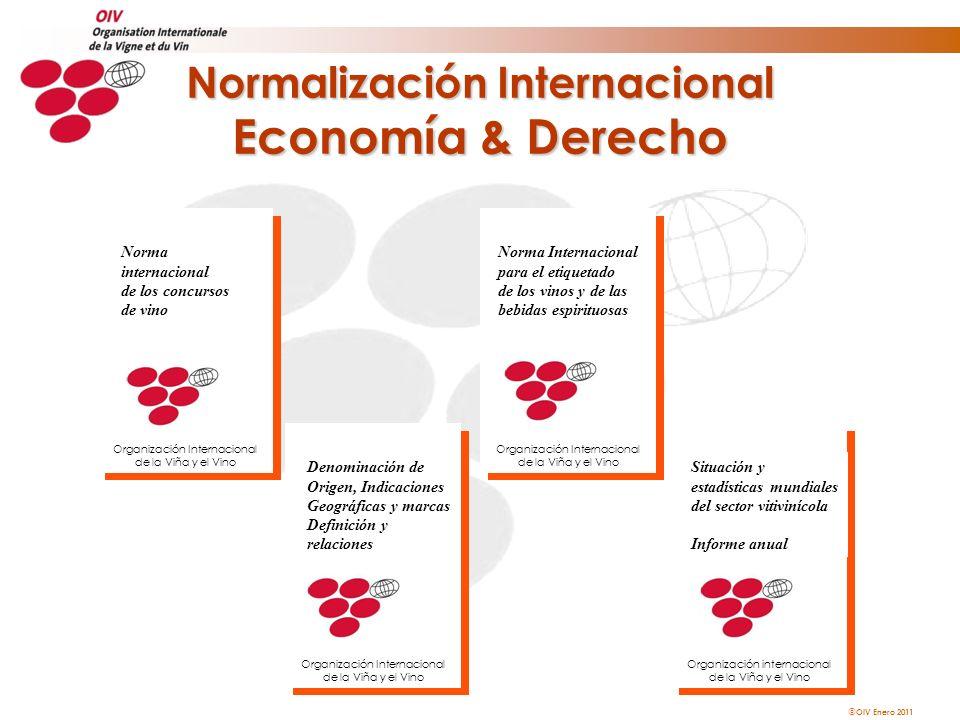 OIV Enero 2011 Norma Internacional para el etiquetado de los vinos y de las bebidas espirituosas Organización Internacional de la Viña y el Vino Denom