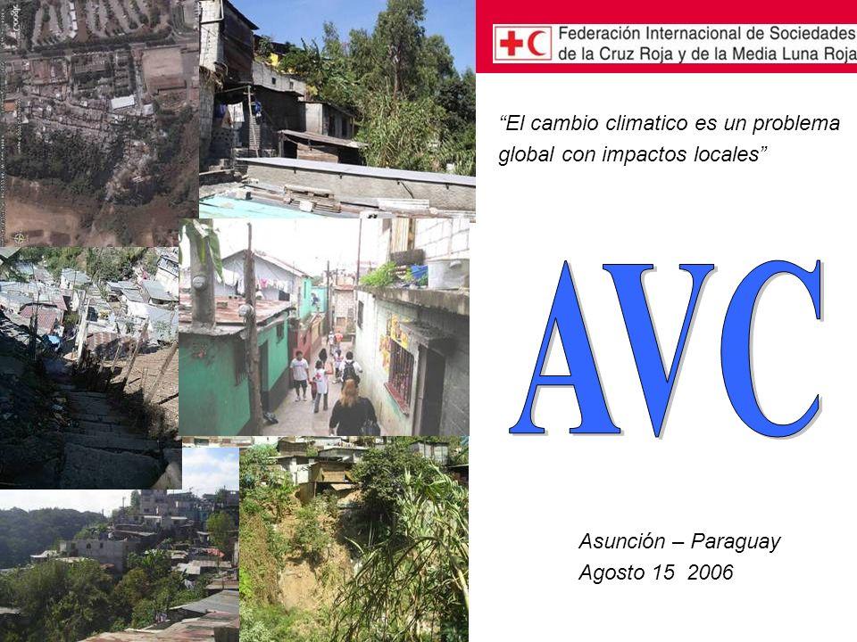 Asunción – Paraguay Agosto 15 2006 El cambio climatico es un problema global con impactos locales