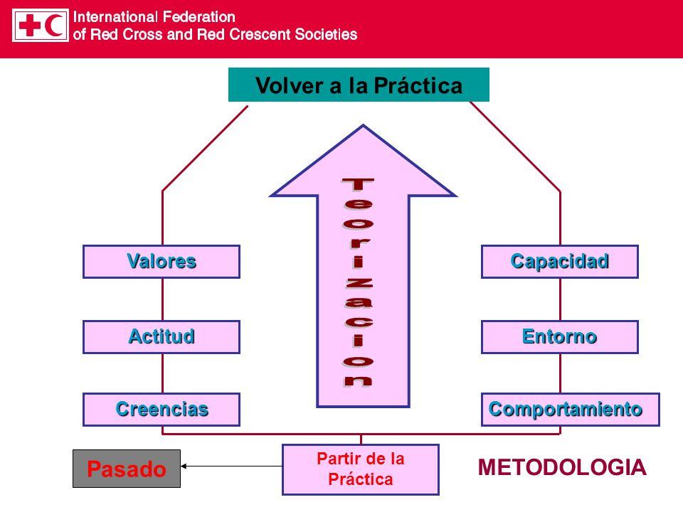 ComportamientoCreencias ActitudEntorno CapacidadValores Partir de la Práctica Volver a la Práctica METODOLOGIA Pasado