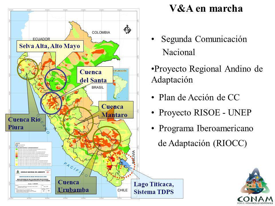 Selva Alta, Alto Mayo Cuenca del Santa Segunda Comunicación Nacional Proyecto Regional Andino de Adaptación Cuenca Río Piura Cuenca Mantaro Cuenca Uru