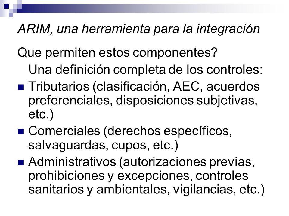 ARIM, una herramienta para la integración Que permiten estos componentes.