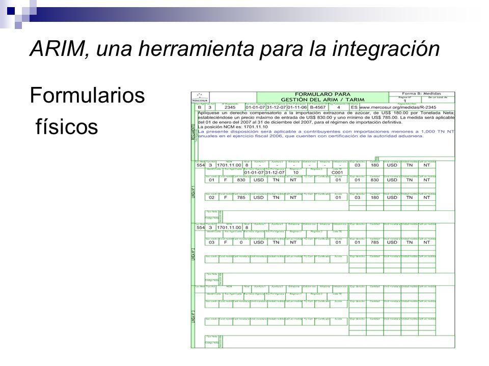ARIM, una herramienta para la integración Formularios físicos