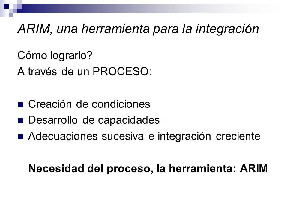 ARIM, una herramienta para la integración Cómo lograrlo.