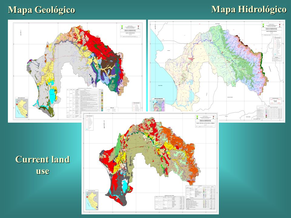 Mapa Geológico Mapa Hidrológico Current land use