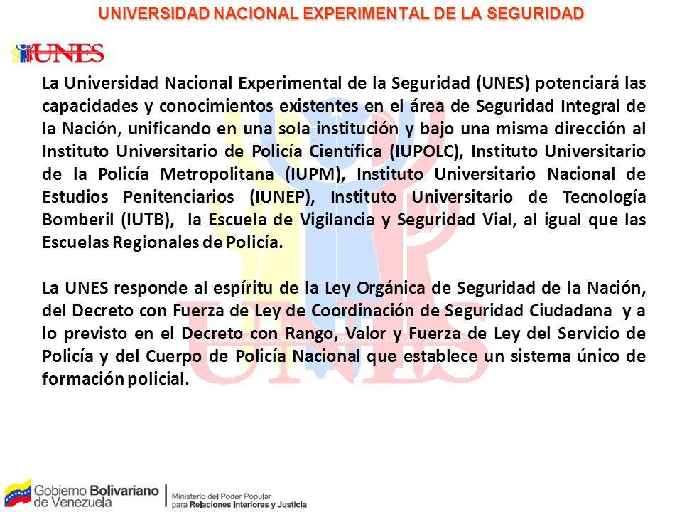 PAPEL PARA LA DISCUSIÓN UNIVERSIDAD NACIONAL EXPERIMENTAL DE LA SEGURIDAD La Universidad Nacional Experimental de la Seguridad (UNES) potenciará las c