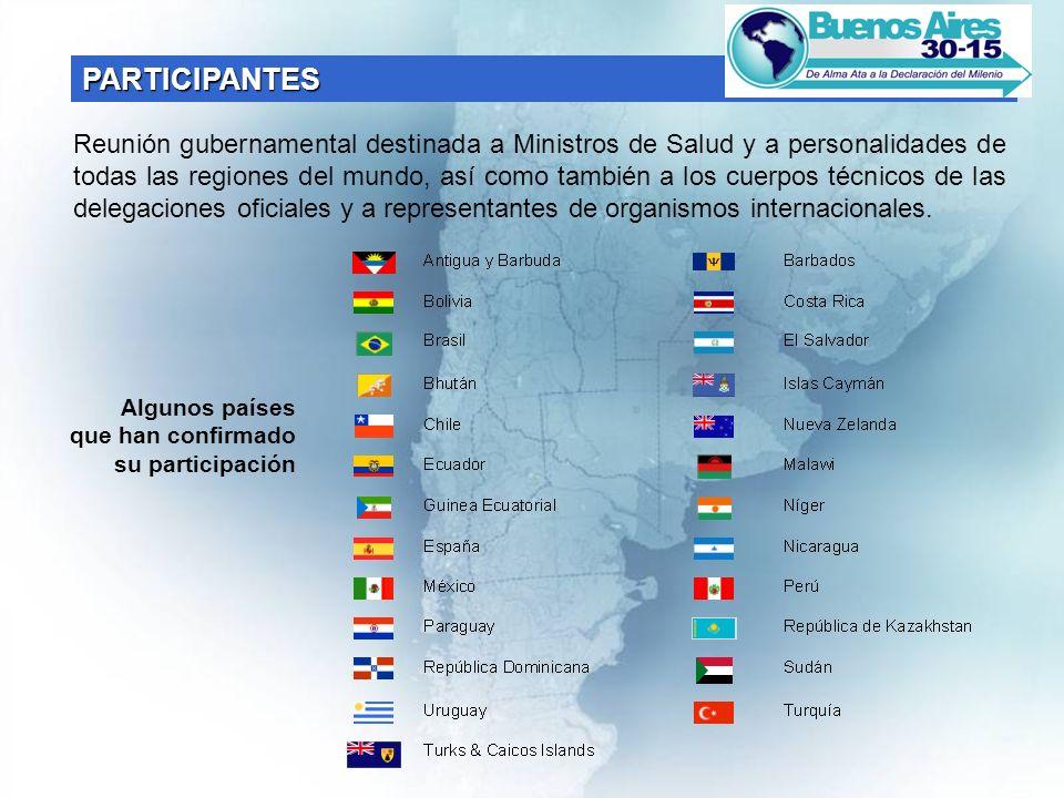 Reunión gubernamental destinada a Ministros de Salud y a personalidades de todas las regiones del mundo, así como también a los cuerpos técnicos de las delegaciones oficiales y a representantes de organismos internacionales.