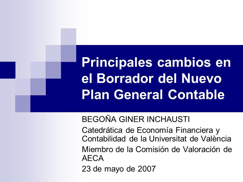 BEGOÑA GINER INCHAUSTI Catedrática de Economía Financiera y Contabilidad de la Universitat de València Miembro de la Comisión de Valoración de AECA 23
