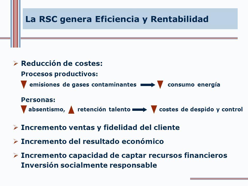 La RSC genera Transparencia Modelos de información empresarial que reflejan la triple dimensión económica, social y medioambiental. Informes de sosten