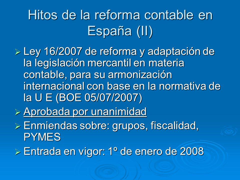 Reforma del PGC Grupo trabajo Reforma PGC: 2005-2006: Grupo trabajo Reforma PGC: 2005-2006: * Aprobado por R.D.