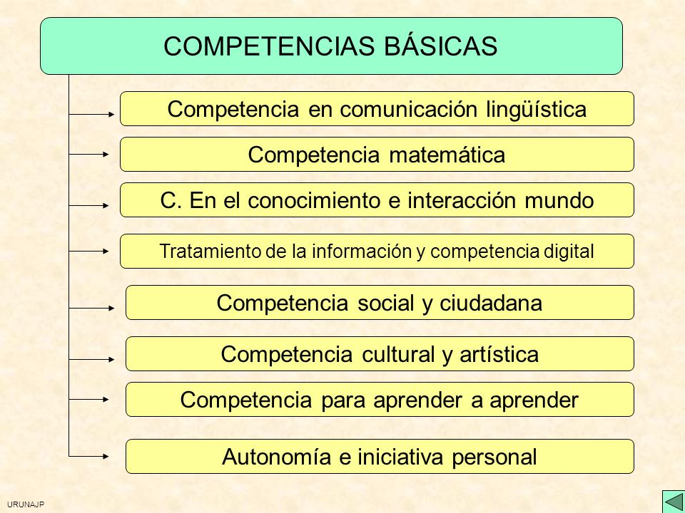 URUNAJP Evaluación de las competencias La valoración final de la eficacia de la educación obligatoria con respecto al desarrollo de las competencias c