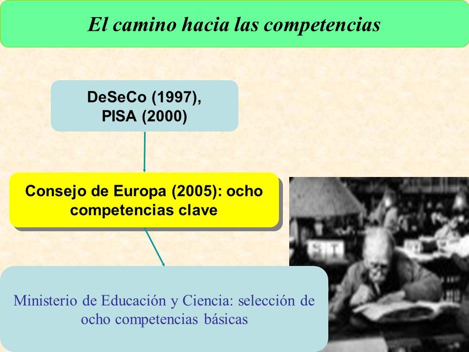 URUNAJP DeSeCo (1997), PISA (2000) El camino hacia las competencias Consejo de Europa (2005): ocho competencias clave Ministerio de Educación y Ciencia: selección de ocho competencias básicas