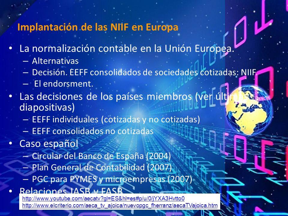 La normalización contable en la Unión Europea. – Alternativas – Decisión.