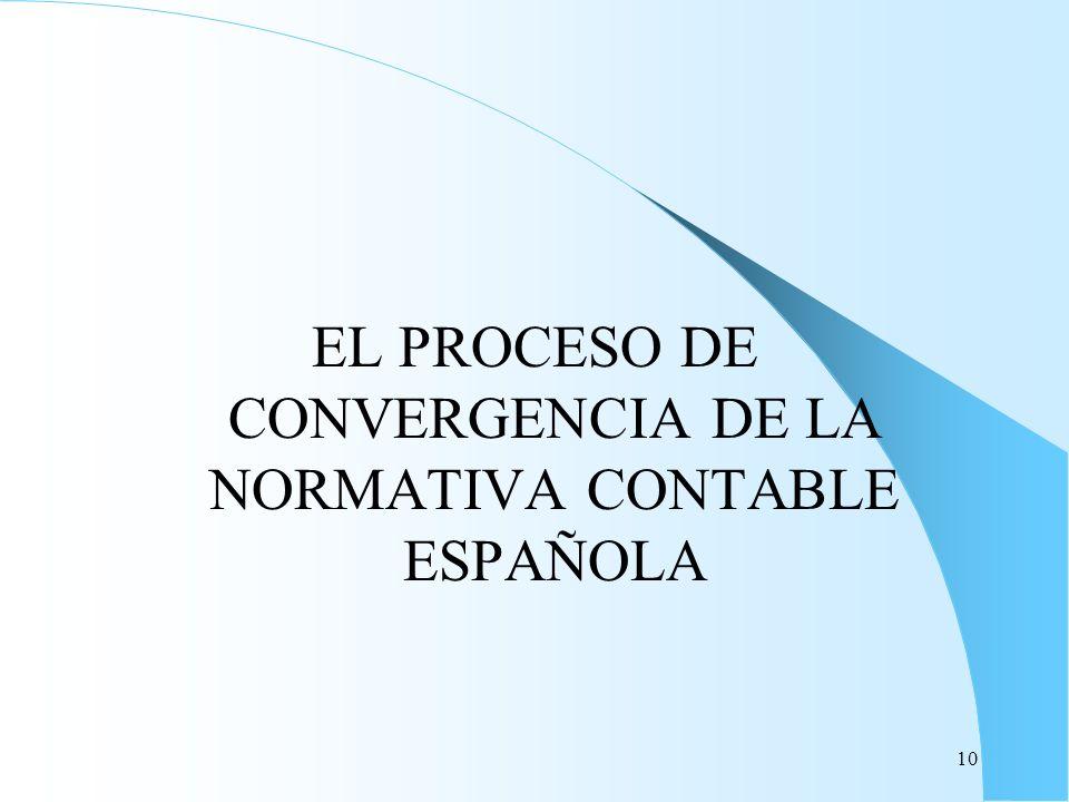 10 EL PROCESO DE CONVERGENCIA DE LA NORMATIVA CONTABLE ESPAÑOLA