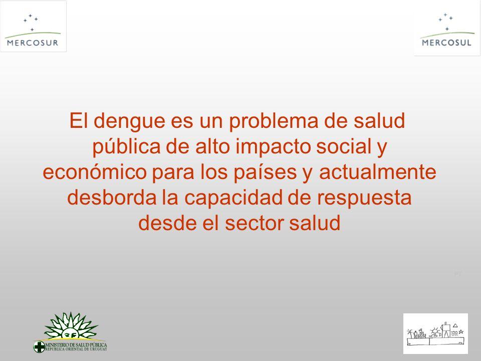 PT El dengue es un problema de salud pública de alto impacto social y económico para los países y actualmente desborda la capacidad de respuesta desde