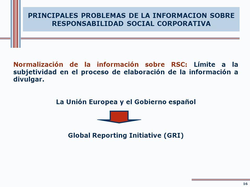 Normalización de la información sobre RSC: Límite a la subjetividad en el proceso de elaboración de la información a divulgar. La Unión Europea y el G