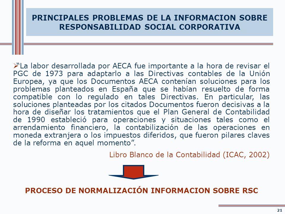 La labor desarrollada por AECA fue importante a la hora de revisar el PGC de 1973 para adaptarlo a las Directivas contables de la Unión Europea, ya qu