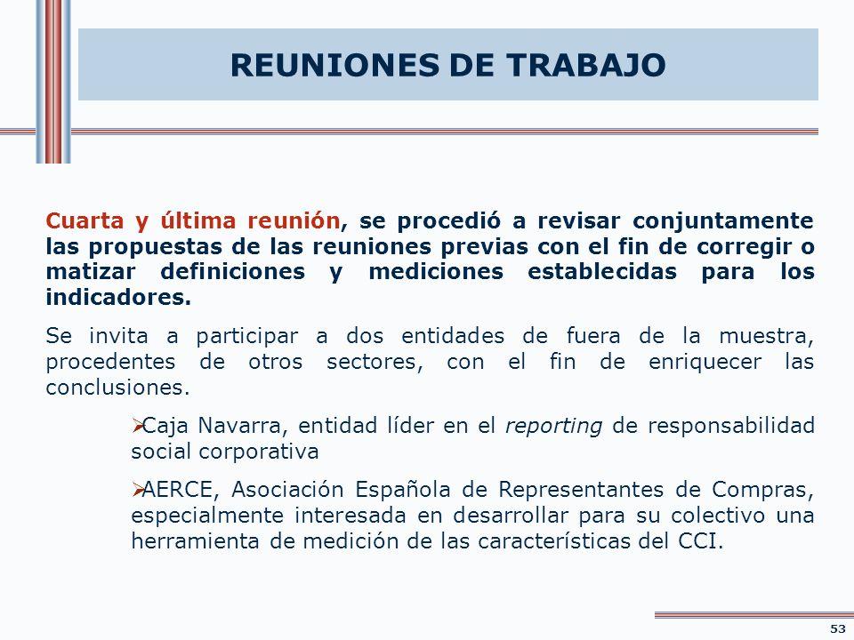 REUNIONES DE TRABAJO Cuarta y última reunión, se procedió a revisar conjuntamente las propuestas de las reuniones previas con el fin de corregir o mat