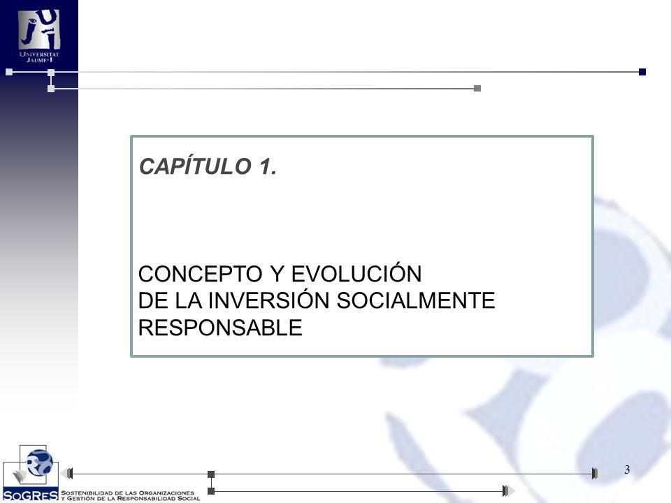 CAPÍTULO 1 1.CONCEPTO Y EVOLUCIÓN DE LA IINVERSIÓN SOCIALMENTE RESPONSABLE 1.1.