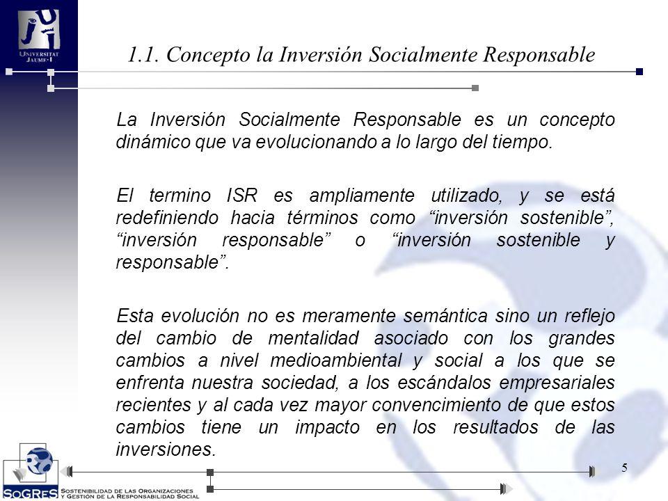 La Inversión Socialmente Responsable es un concepto dinámico que va evolucionando a lo largo del tiempo. El termino ISR es ampliamente utilizado, y se