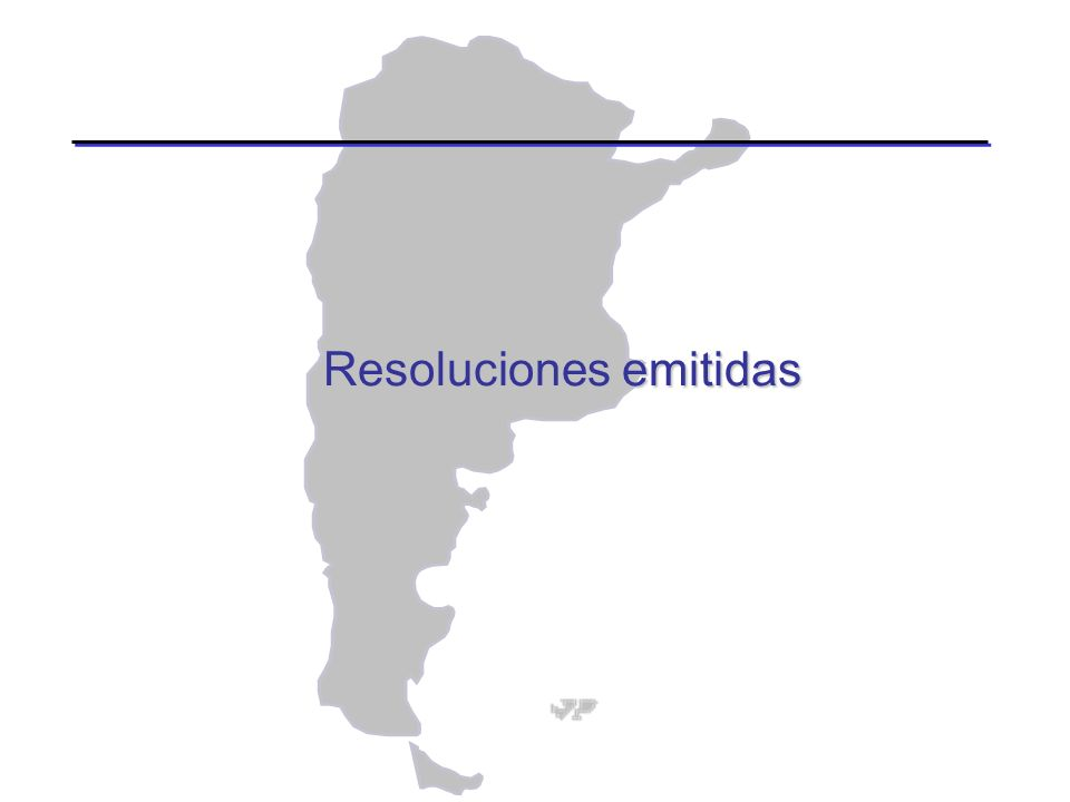 Resoluciones emitidas