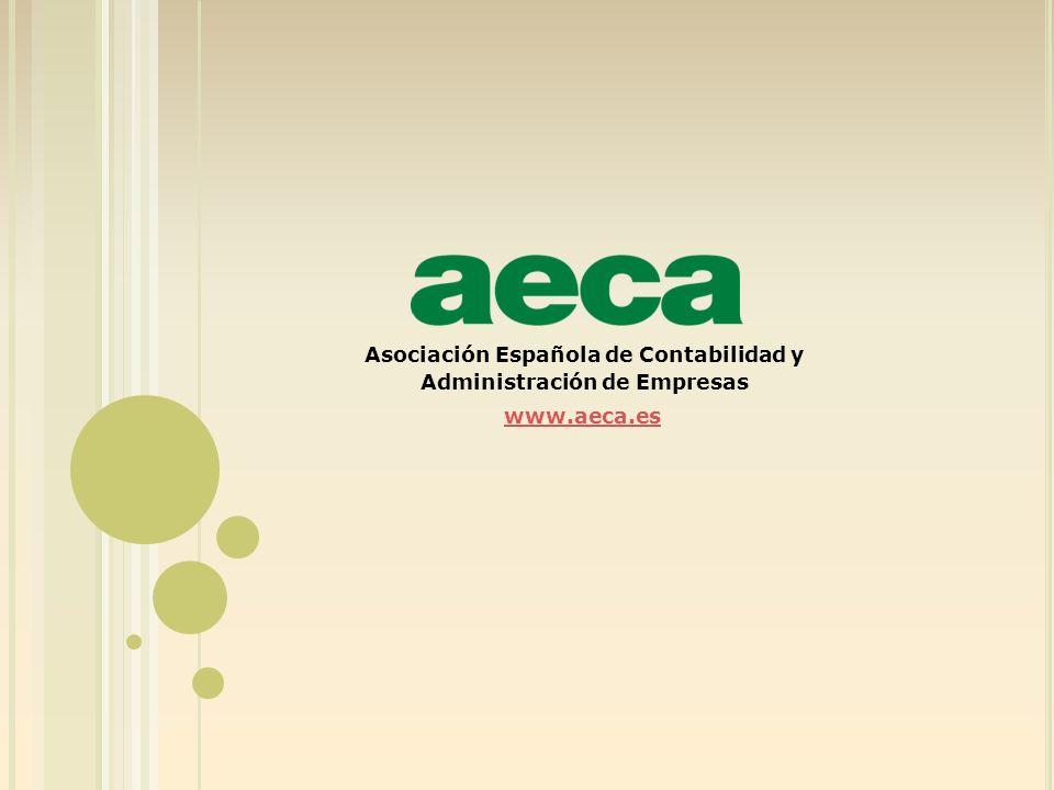 Asociación Española de Contabilidad y Administración de Empresas www.aeca.es