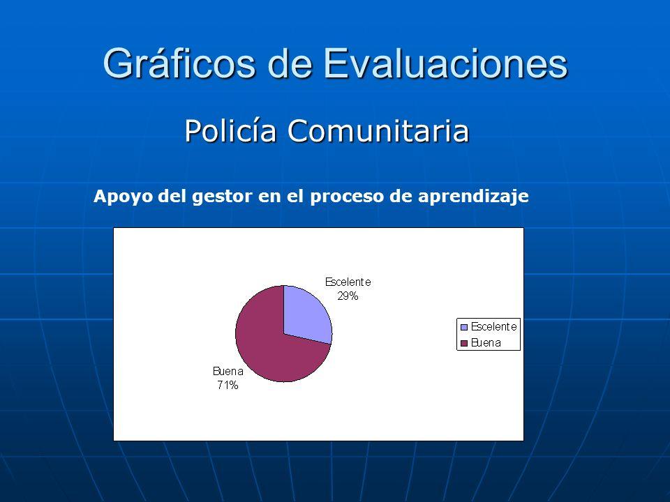 Gráficos de Evaluaciones Policía Comunitaria Apoyo del gestor en el proceso de aprendizaje