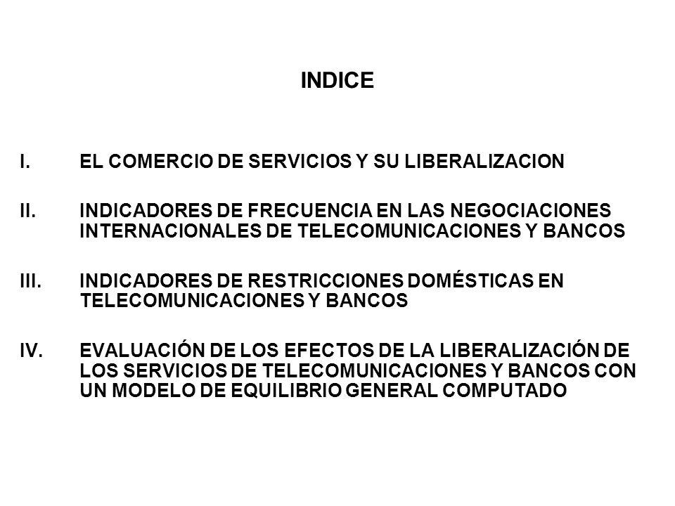 INDICE I. EL COMERCIO DE SERVICIOS Y SU LIBERALIZACION II.