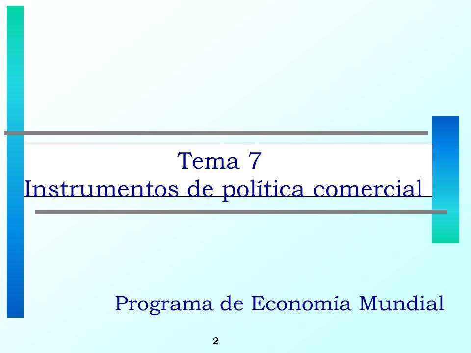 2 Tema 7 Instrumentos de política comercial Programa de Economía Mundial