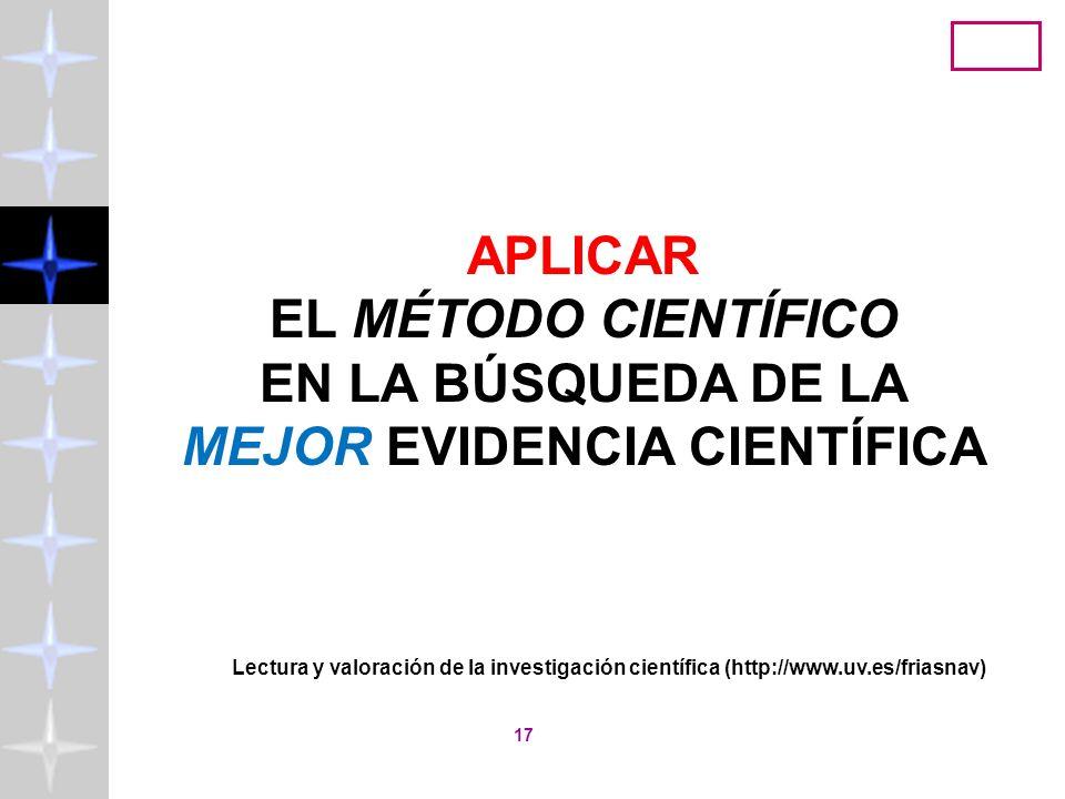 Lectura y valoración de la investigación científica (http://www.uv.es/friasnav) 16 el Código Ético de la American Psychological Association que entró