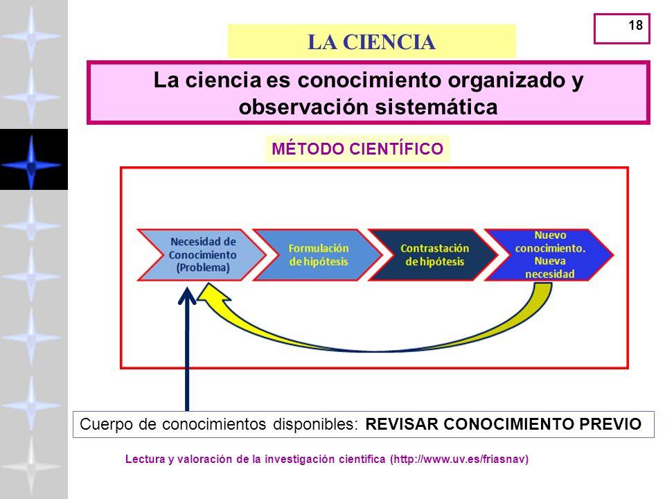 17 APLICAR EL MÉTODO CIENTÍFICO EN LA BÚSQUEDA DE LA MEJOR EVIDENCIA CIENTÍFICA Lectura y valoración de la investigación científica (http://www.uv.es/