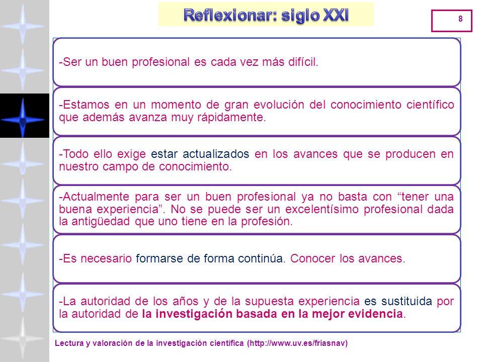 Lectura y valoración de la investigación científica (http://www.uv.es/friasnav) 38 METODOLOGÍA NO EXPERIMENTAL: SIN MANIPULACIÓN DE VARIABLES METODOLOGÍA EXPERIMENTAL Y CUASI-EXPRIMENTAL: CON MANIPULACIÓN DE VARIABLES DEFINIRELTIPODEPROBLEMA Y su planificación