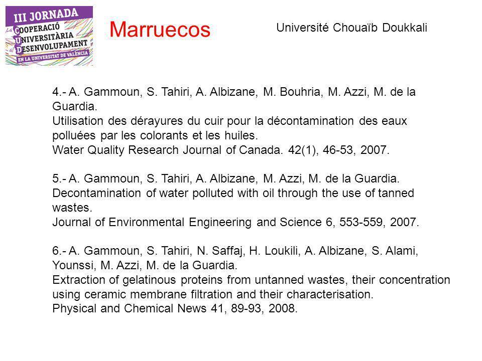 4.- A. Gammoun, S. Tahiri, A. Albizane, M. Bouhria, M.