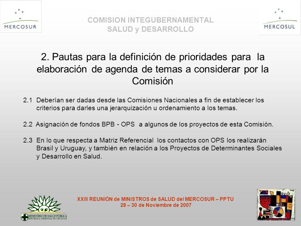 COMISION INTEGUBERNAMENTAL SALUD y DESARROLLO 2.