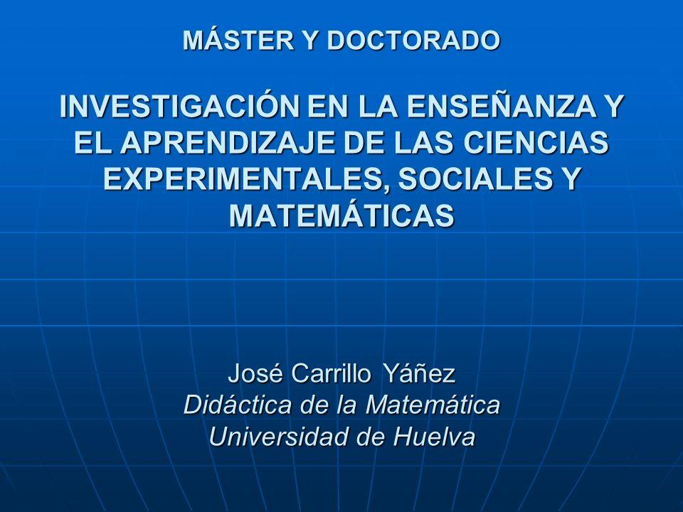 Un poco de historia US Dilema DM con DCCEE y DCCSS o con AM y MA UHU Doctorado con Filosofía, EF, EM, EP Doctorado interuniversitario