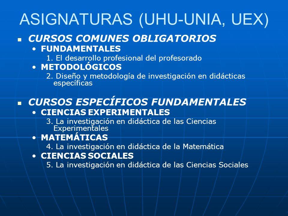 OTROS CURSOS UHU-UNIA, UEX 6.Educación Ambiental 7.