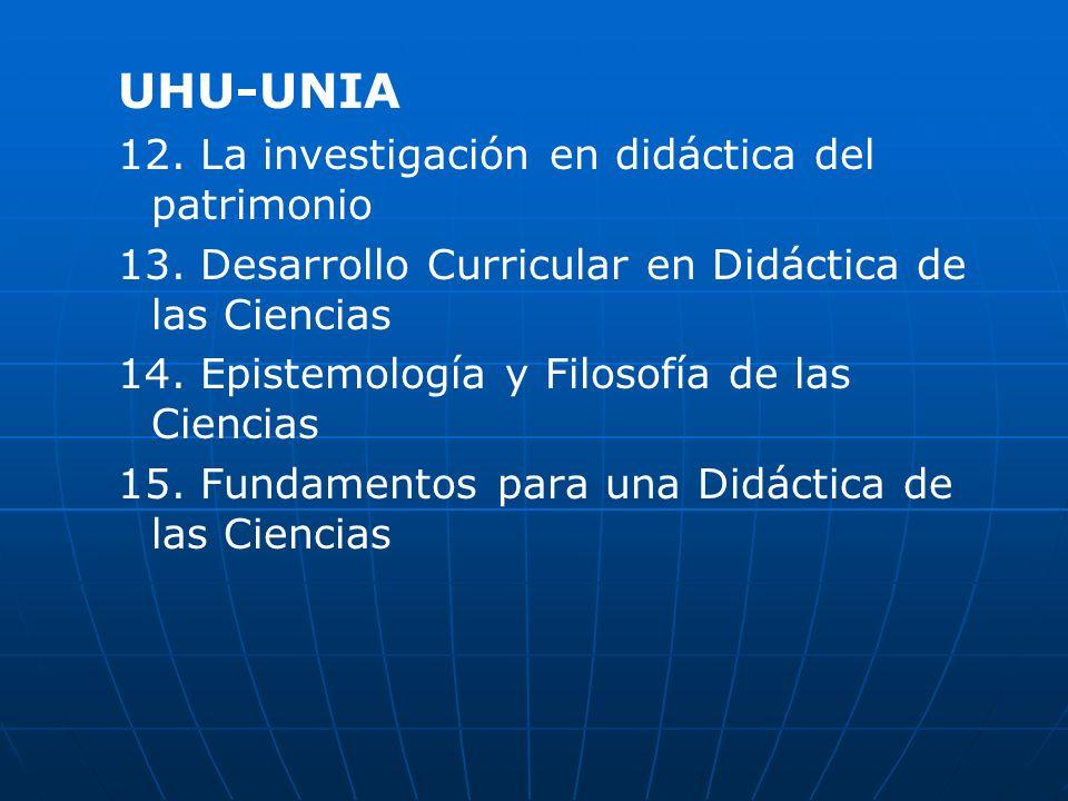 UEX 16.La Investigación en Didáctica de la Química 17.
