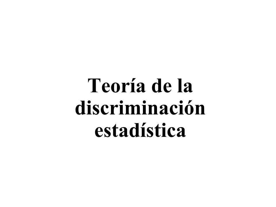 Teoría de la discriminación estadística