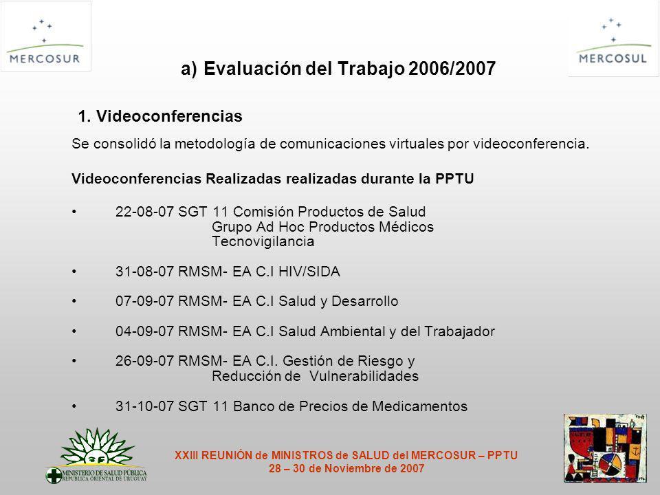 a) Evaluación del Trabajo 2006/2007 1.
