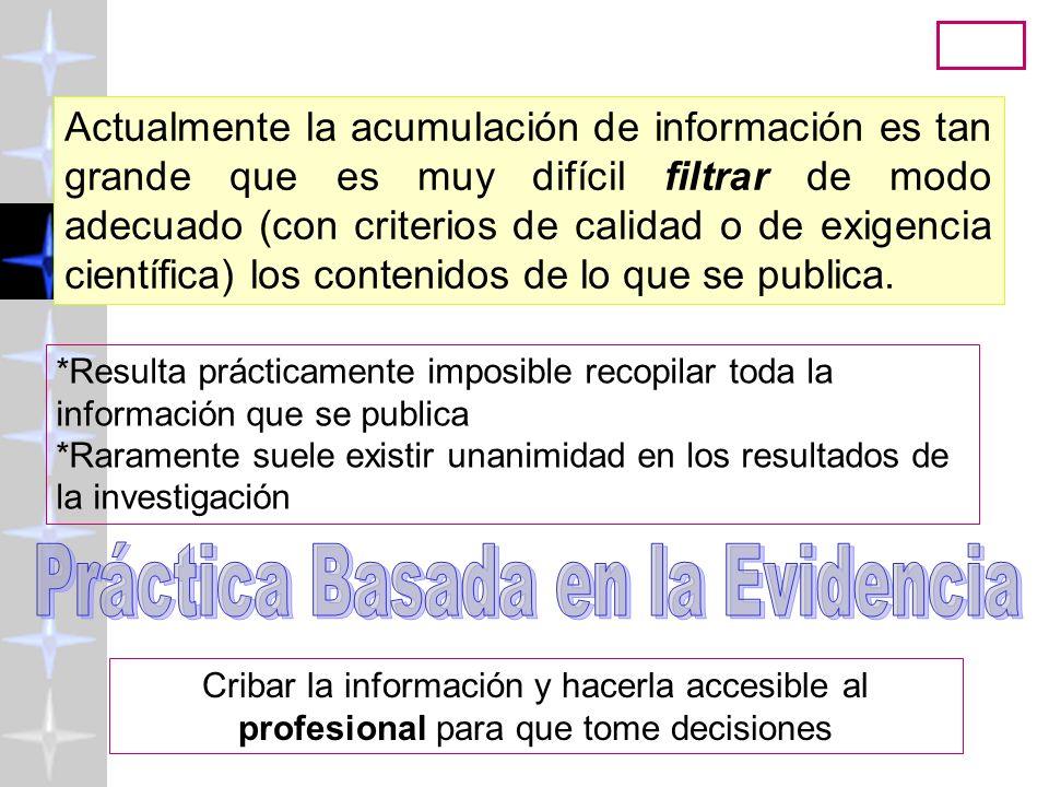 Psicología Basada en la Evidencia ( http://www.uv.es/friasnav) 2008 24 ¿Por qué leemos la literatura científica.