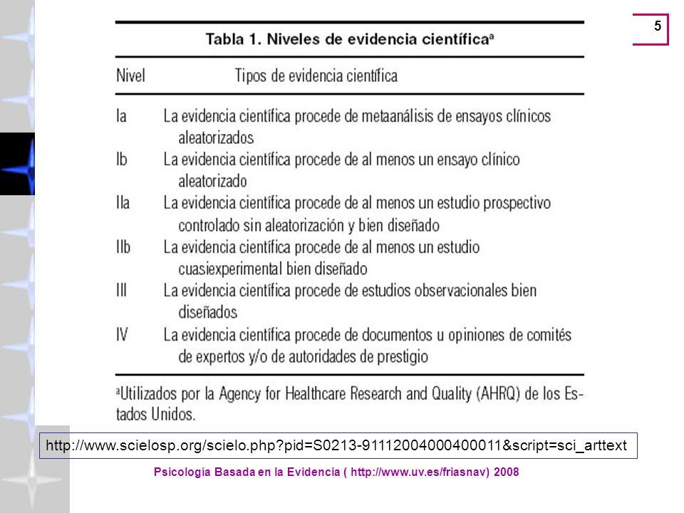 Lectura y valoración de la investigación científica ( http://www.uv.es/friasnav) 56 Journal Citation Reports
