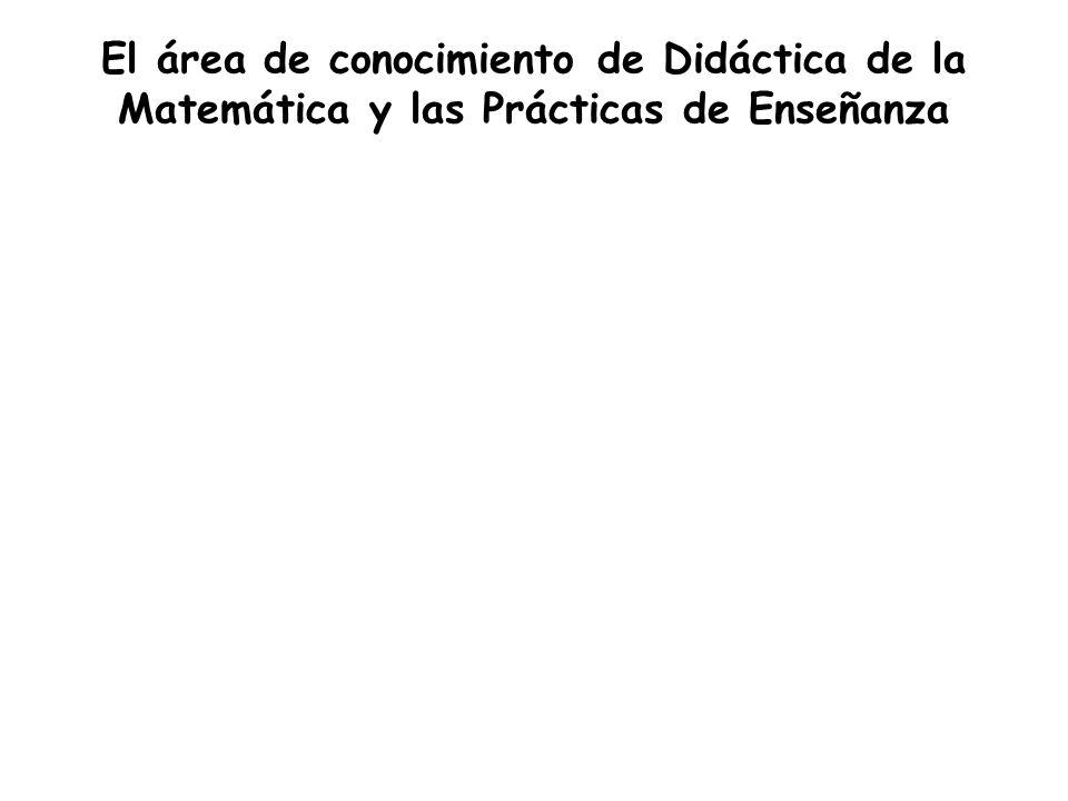 El área de conocimiento de Didáctica de la Matemática y las Prácticas de Enseñanza