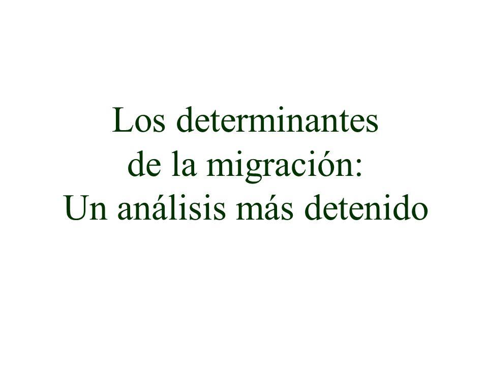 Los determinantes de la migración: Un análisis más detenido
